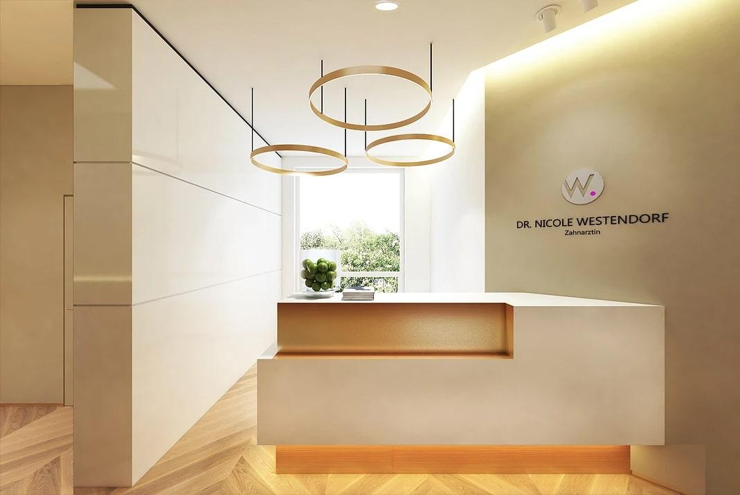 <span>Дизайн комерційних приміщень</span>Дизайн-проект стоматологічної клініки у Gamburg, Germany